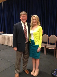 Laura Zdziarski with the President of the National Athletic Trainers' Association